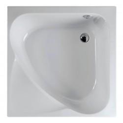 CARMEN brodzik prysznicowy kwadratowy 90x90x30cm, głęboki, biały ze stelażem