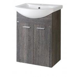 ZOJA szafka umywalkowa 50,5x74x30cm, mali wenge