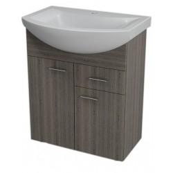 ZOJA szafka umywalkowa, 61,5x74x32,5cm, 2 drzwiczek, 1 szuflada,mali wenge