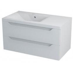 WAVE szafka umywalkowa 90x45x48cm, lewa, biała