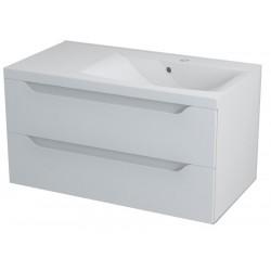 WAVE szafka umywalkowa 90x45x48cm, prawa, biała