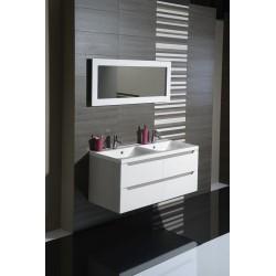 WAVE szafka umywalkowa 120x50x48cm, biała/maliwenge