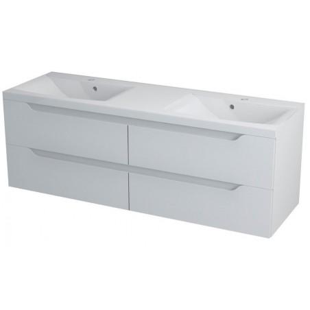 WAVE szafka umywalkowa 150x50x48cm, biała