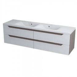 WAVE szafka umywalkowa 180x50x48cm, biała/maliwenge