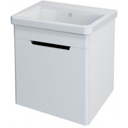 ELLA szafka umywalkowa 46,5x65x38,5cm, 1 drzwiczki, biała