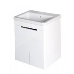 ELLA szafka umywalkowa 56,5x65x43cm, 2 drzwiczek, biała