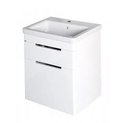 ELLA szafka umywalkowa 56,5x65x43cm, 2 szuflady, biała