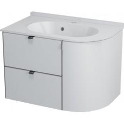 PULSE szafka umywalkowa 75x52x45 cm, lewa, biała/antracyt