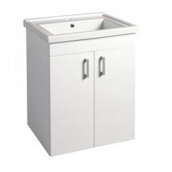 POLY szafka umywalkowa 56x74,6x46,5cm, 2xdrzwiczki, biała