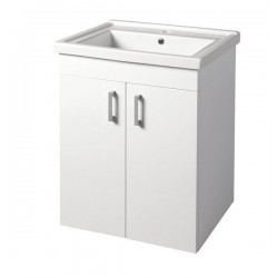 POLY szafka umywalkowa 66x74,6x46,5cm, 2xdrzwiczki, biała