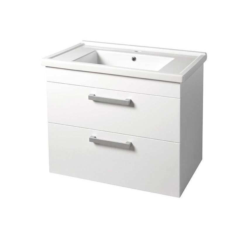 POLY szafka umywalkowa76x66,6x46,5cm, 2 szuflady, biała