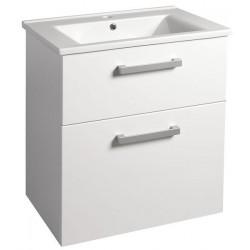 VEGA szafka umywalkowa 62x72,6x43,8cm, 2 szuflady, biała