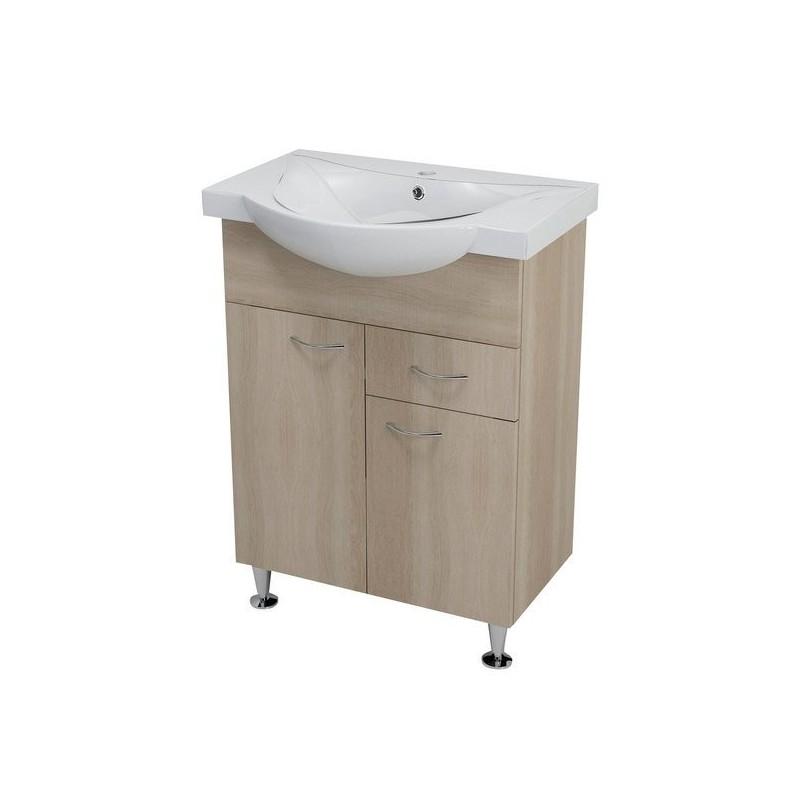 KERAMIA FRESH szafka umywalkowa 60x74x33,7cm, dąb platin