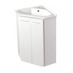 ZOJA szafka umywalkowa narożna 39x74x39cm, biała
