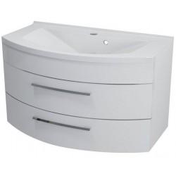 JULIE szafka umywalkowa 90x50x50cm, 2 szuflady, biała
