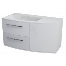 JULIE szafka umywalkowa 100,5x55x50cm, lewa, biała