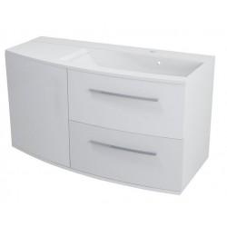 JULIE szafka umywalkowa 100,5x55x50cm, prawa, biała