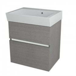 LARGO szafka umywalkowa 59x60x41cm, dąb srebrny