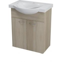 KERAMIA FRESH szafka umywalkowa 60,60x74x33,7cm, dub platin
