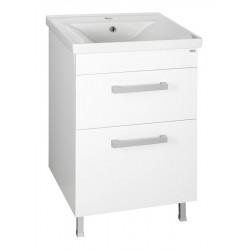 POLY szafka umywalkowa 51,8x74,6x44 cm, 2 szuflady, szuflada, biała