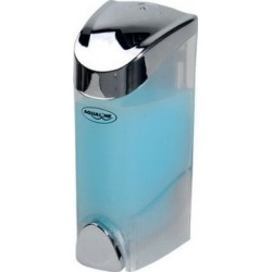 Dozownik płynnego mydła do powieszenia, 300 ml, chrom