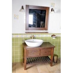 BRAND szafka umywalkowa 100x73x50cm, świerk bejcowany