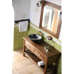 BRAND szafka umywalkowa 130x73x50cm, świerk bejcowany