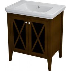CROSS szafka umywalkowa 70x81x47cm, mahoń