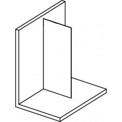 MODULAR SHOWER jednoczęściowa ścianka do montażu do ściany, 1100 mm