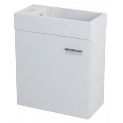 LATUS IV szafka umywalkowa 49,5x50x24,5 cm, biała