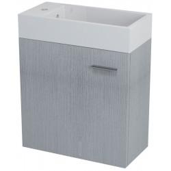 LATUS IV szafka umywalkowa, 49,5x50x24,5cm, dąb srebrny