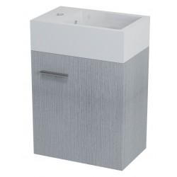 LATUS V szafka umywalkowa 36x40x23cm, dąb srebrny