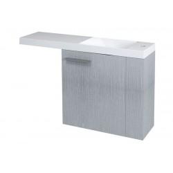 LATUS VI szafka umywalkowa 50x50x22cm, prawa, dąb srebrny