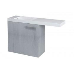 LATUS VI szafka umywalkowa 50x50x22cm, lewa, dąb srebrny