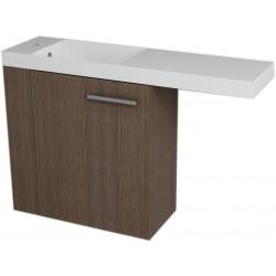 LATUS VI szafka umywalkowa 50x50x22 cm, lewa, sosna rustikalna