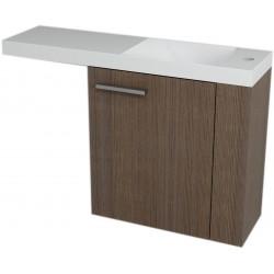 LATUS VI szafka umywalkowa 50x50x22 cm, prawa, sosna rustikalna