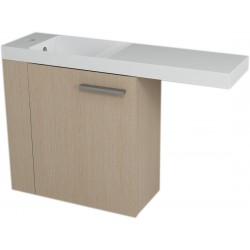 LATUS VI szafka umywalkowa 50x50x22 cm, lewa, dąb wenecki