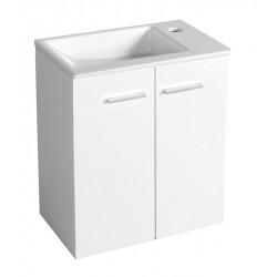 ZOJA szafka umywalkowa 49x50x24,6cm, 2 drzwi, biała