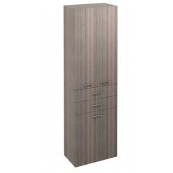 ZOJA/KERAMIA FRESH szafka wysoka z koszem, 50x184x29 cm, mali wenge