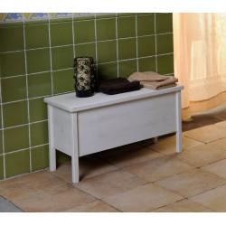 BRAND ławka ze schowkiem 80x46x35cm, starobiała