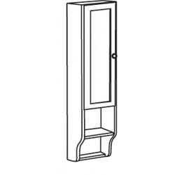 RETRO szafka do lustra 25x115cm, starobiała, lewa
