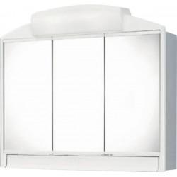 RANO szafka z lustrem 59x51x16cm, 2x25W, biała