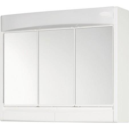 SAPHIR szafka z lustrem 60x51x18cm, jarzeniówka 15W, biały plastik