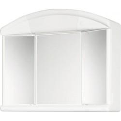 SALVA szafka z lustrem 59x50x15,5cm, 1x40W, biały plastik