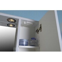 ZOJA/KERAMIA FRESH szafka z lustremm i ośw. halogen. 60x60x14cm, biała, prawa