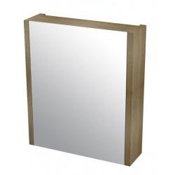 LARITA szafka z lustrem 60x70x17cm, dąb graphite