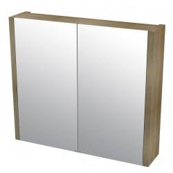 LARITA szafka z lustrem 80x70x17cm, dąb graphite