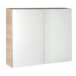 VEGA szafka z lustrem, 80x70x18cm, dąb platin