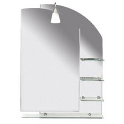 WEGA lustro z półkami 650x900mm, zaokrąglone rogi