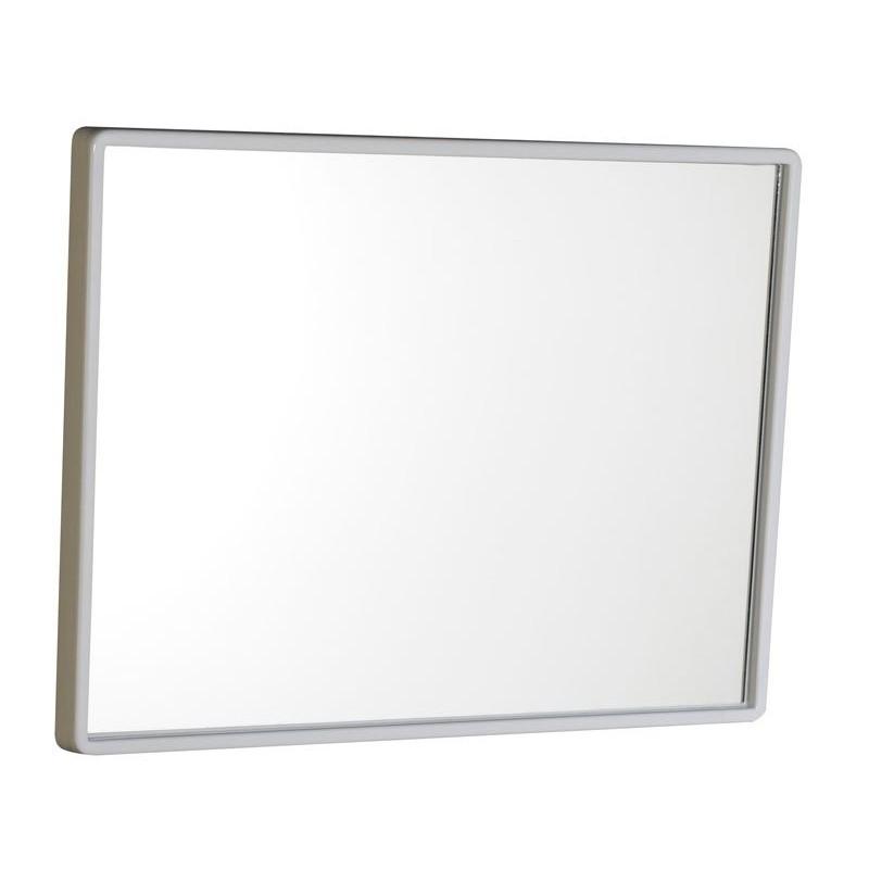 Lustro 40x30cm, rama plastikowa, biała
